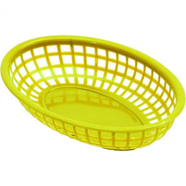 PE-Brotkorb, 23x15 cm, gelb