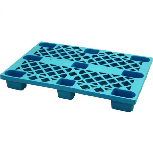 Palette 120x80 cm, stapelbar, HDPE - blau