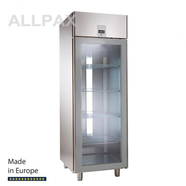 Glastür-Kühlschrank, Umluft