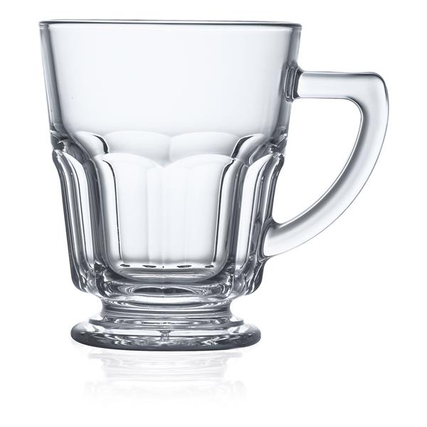 Teetasse auf Fuß aus Glas