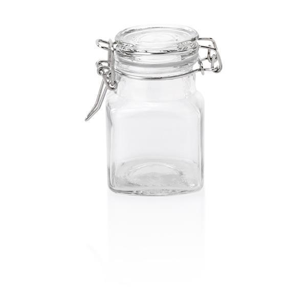 Petit-Bügelverschlussglas aus Glas Deckel mit Dichtung