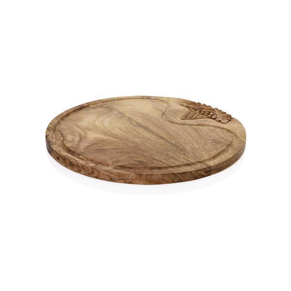 Buffetbrett aus Mangoholz mit Traubendekor