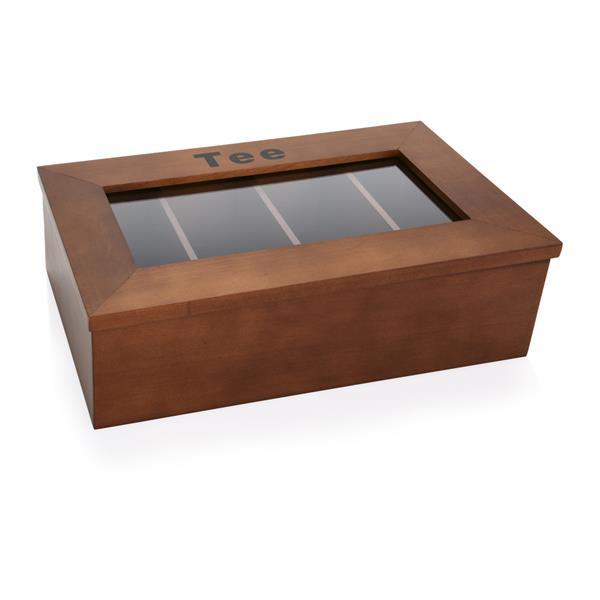 Teebox aus HolzSichtfenster aus Acryl