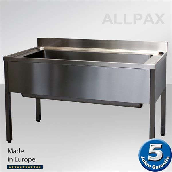 Topfspültisch 1600 mm, Arbeitstisch mit XXL Becken