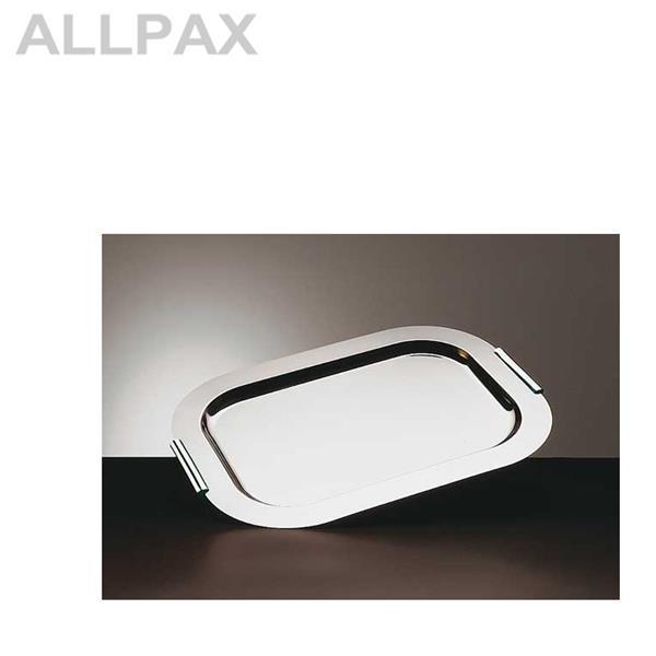 tablett finesse rechteckig edelstahl mit griffen. Black Bedroom Furniture Sets. Home Design Ideas