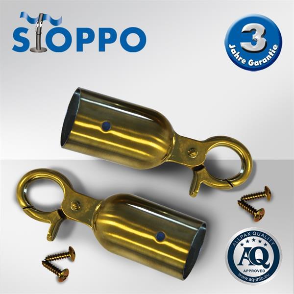 STOPPO Haken für Kordeln, goldene Optik