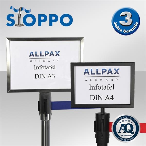 STOPPO Info-Tafel, quer, für Zugbandständer