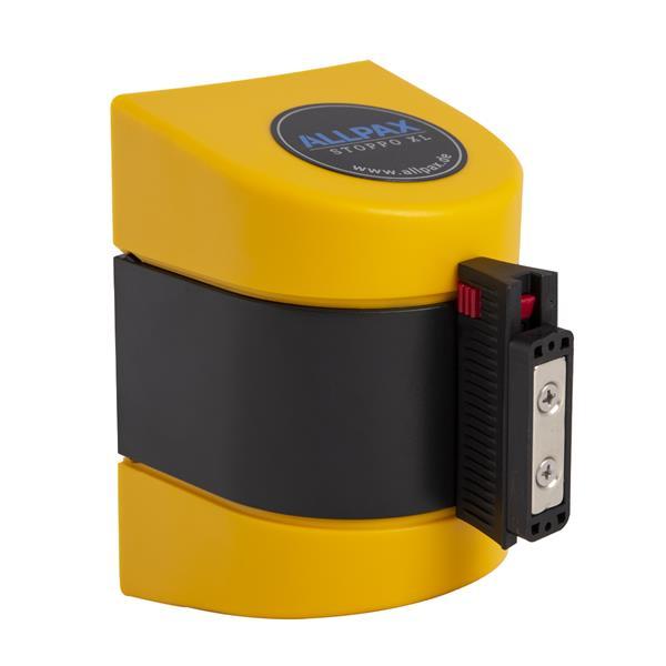 STOPPO XL Magnet Absperrband ausziehbar Wandmontage gelb schwarz 5 m, Kassette gelb