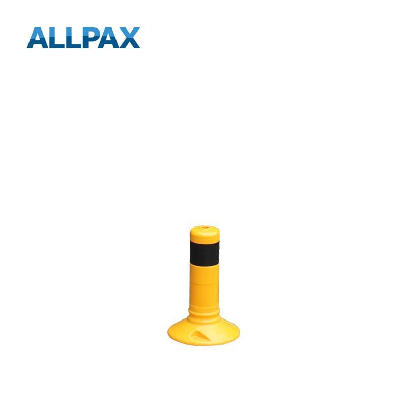 Leitpoller Flexipfosten, gelb mit schwarzen Strei
