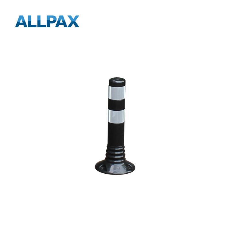 Leitpoller Flexipfosten, schwarz-silber, 80 mm Du