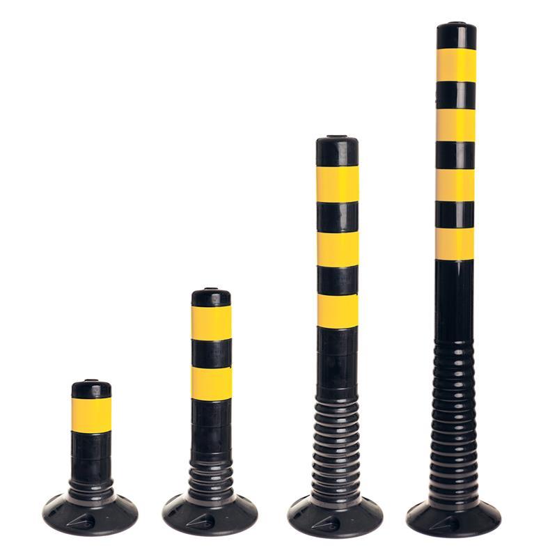 Leitpoller Flexipfosten, schwarz-gelb, 80 mm Durchmesser