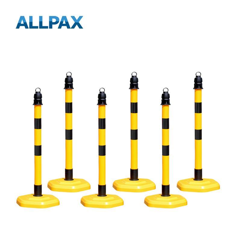 Kettenpfostenset Multimax gelb mit schwarzen Streifen