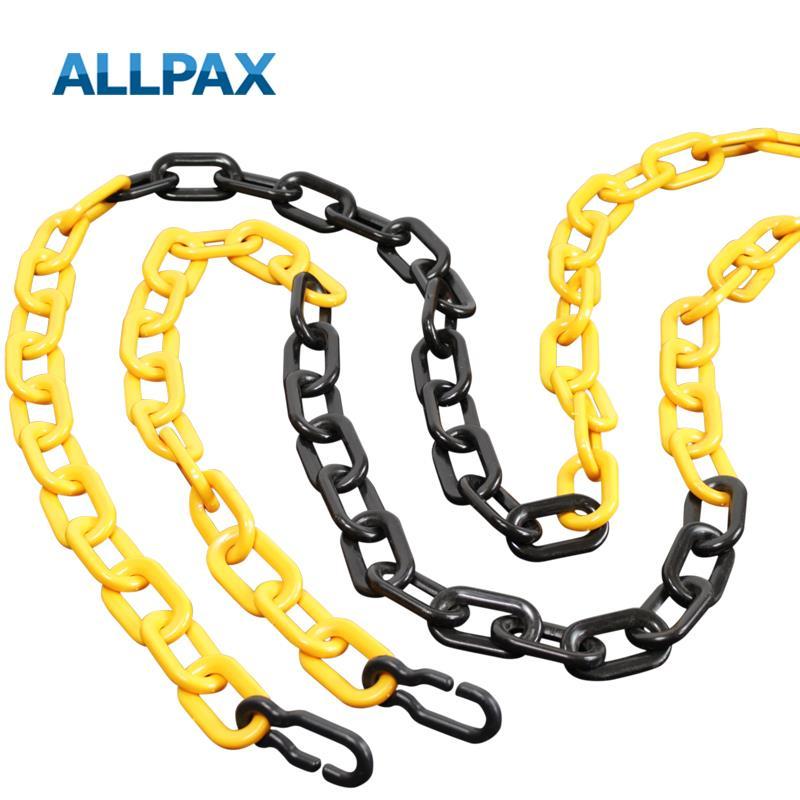 Kunststoffkette Pollux gelb-schwarz, 25 m