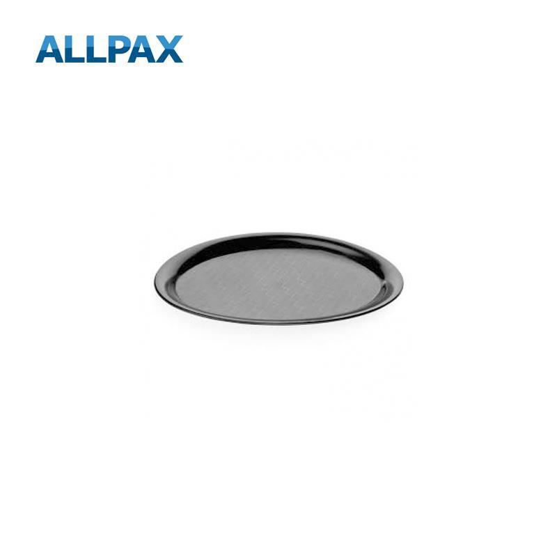 oval Größen wählbar Kunststoff Tablett Serviertablett rutschhemmend,schwarz