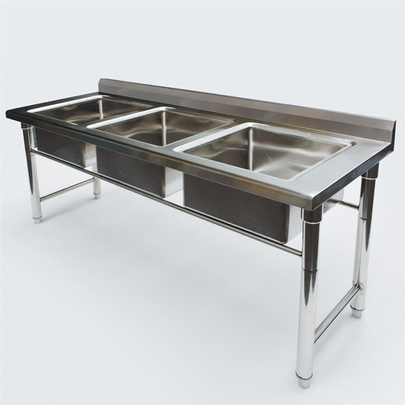 sp ltisch 1550 x 550 x 950 mm 3 becken. Black Bedroom Furniture Sets. Home Design Ideas