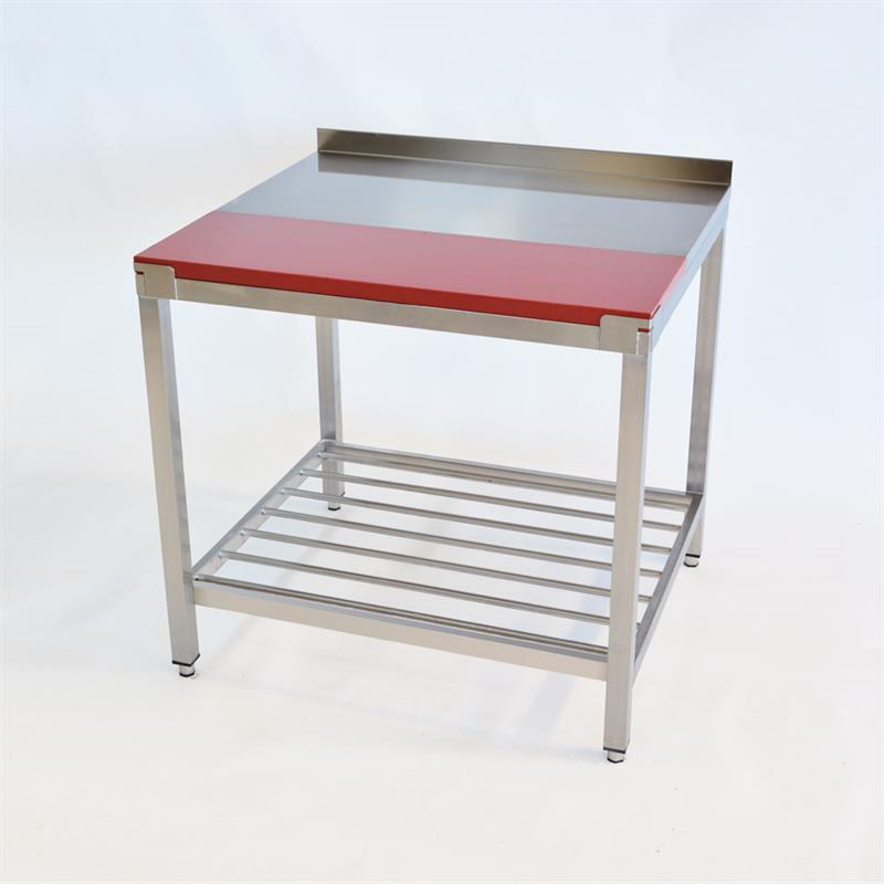 edelstahltisch mit kunststoffplatte 900 x 800 mm. Black Bedroom Furniture Sets. Home Design Ideas