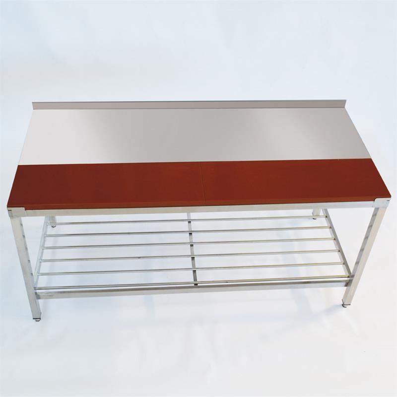 edelstahltisch mit kunststoffplatte 1800 x 800 mm. Black Bedroom Furniture Sets. Home Design Ideas
