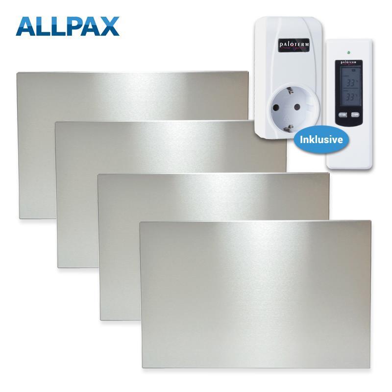 komplettset infrarotheizung 1200 watt inkl thermostat. Black Bedroom Furniture Sets. Home Design Ideas