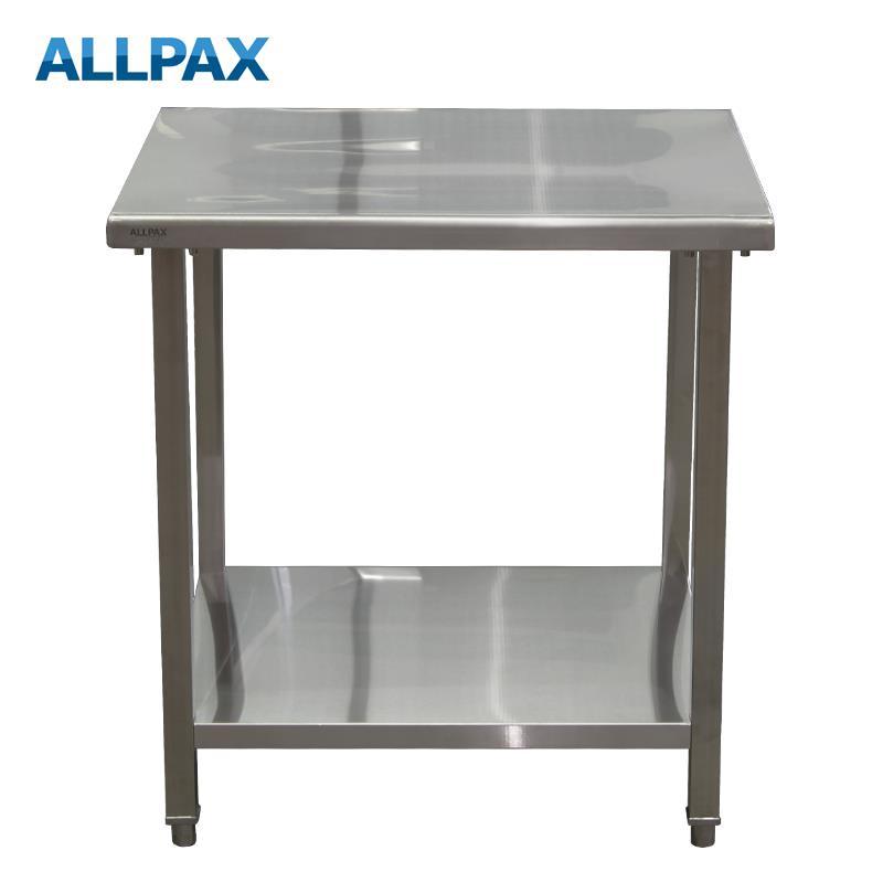 Arbeitstisch aus Edelstahl 800 x 700 x 850 mm, zerlegt