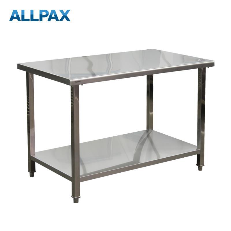 Arbeitstisch aus Edelstahl 1200 x 700 x 850 mm, zerlegt