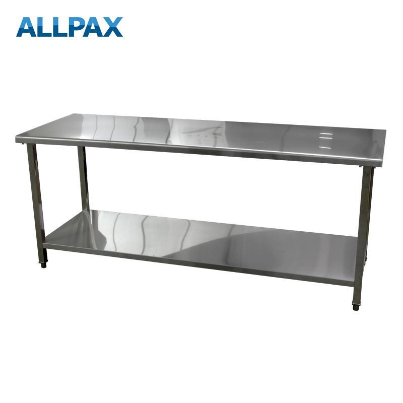 Arbeitstisch aus Edelstahl 2000 x 700 x 850 mm, zerlegt