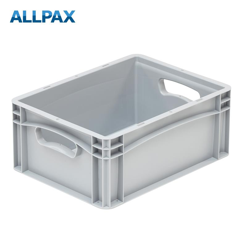 Stapelbox Industrie 400 x 300 x 170 mm, Handgriffe offen