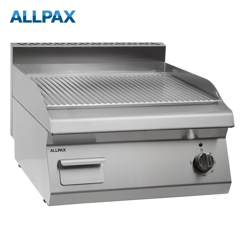 Elektro Grillplatte ALLPAX 606-E, gerillt