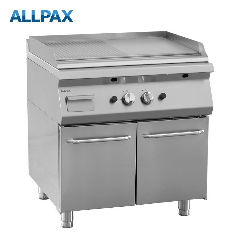 Gas Grillplatte ALLPAX 708-G, 1/2 gerillt