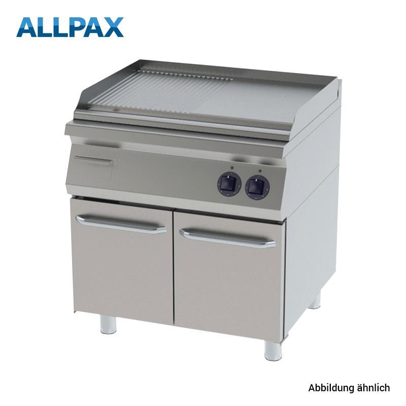 Elektro Grillplatte ALLPAX 708-E, 1/2 gerillt