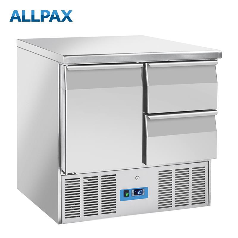 Edelstahl Kühltisch MINI mit Aufkantung
