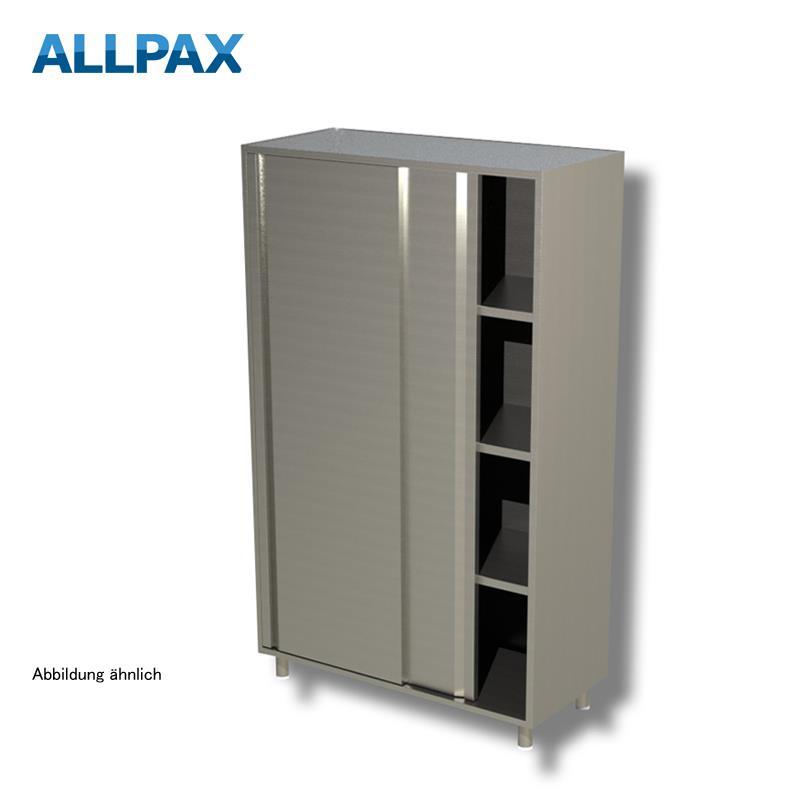 Geschirrschrank 1400 x 700 mm - mit Schiebetüren, 3 Zwischenböden