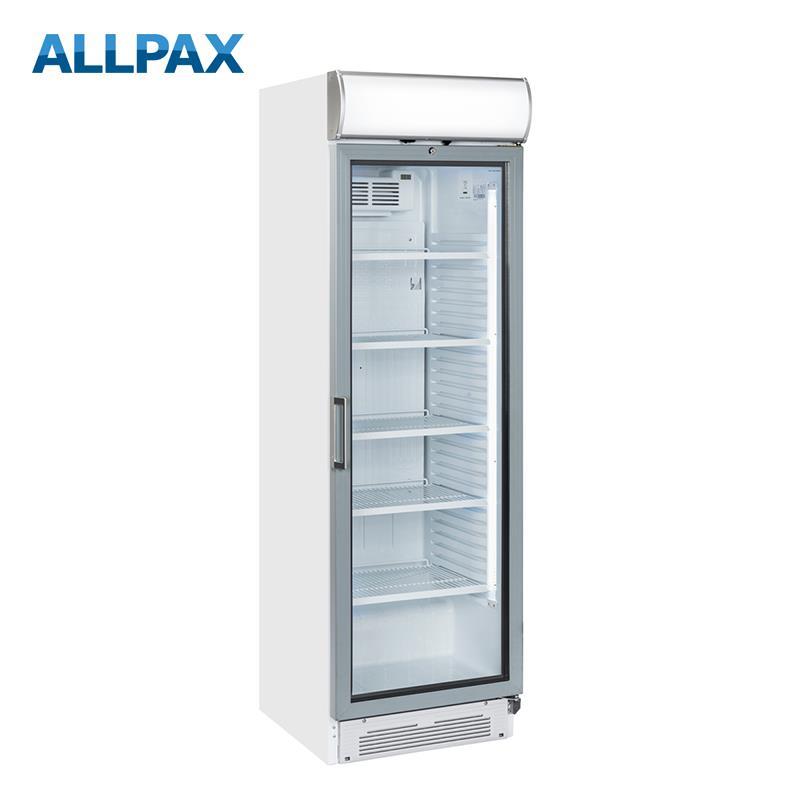 Getränkekühlschrank 390 Liter mit Werbedisplay