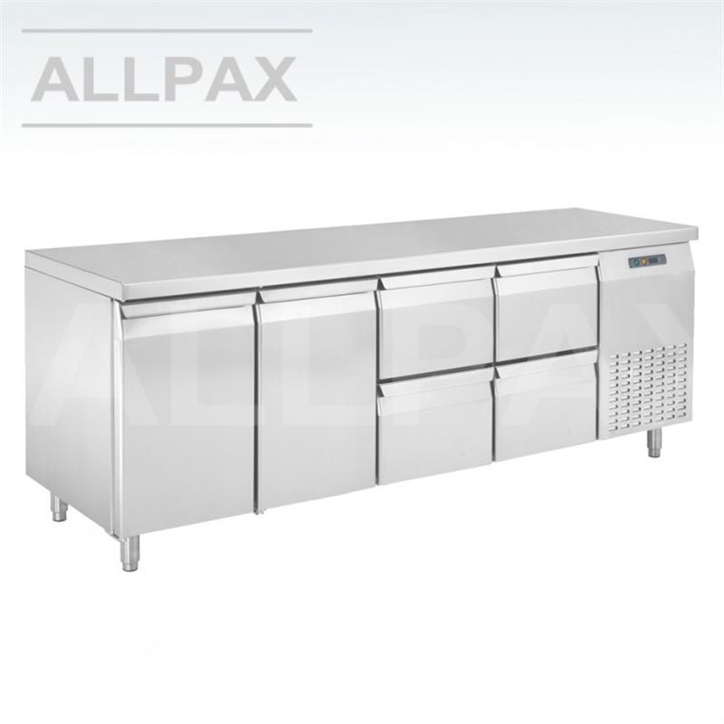 Kühltisch - 2 Türen, 4 Schubladen