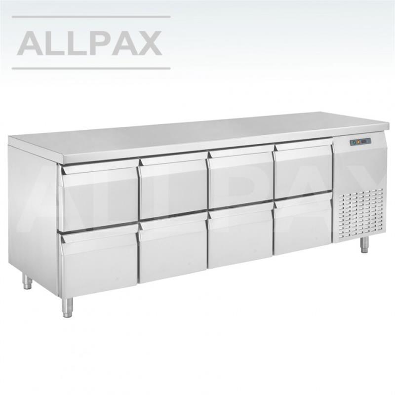 Kühltisch - 8 Schubladen
