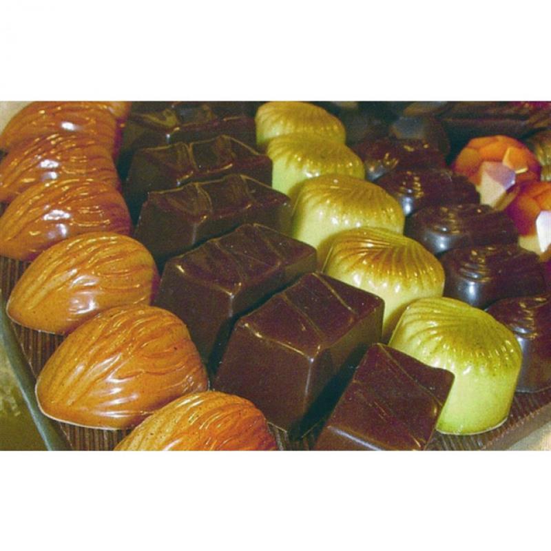 Schokoladenform Eiskonfekt, 27,5x13,5 cm, 21 Stück à 7 gr.