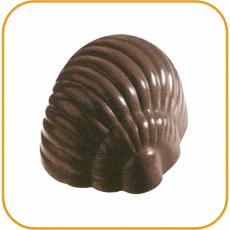 Schokoladenform Muschel, 27,5x13,5 cm, 24 Stück à 15 gr.