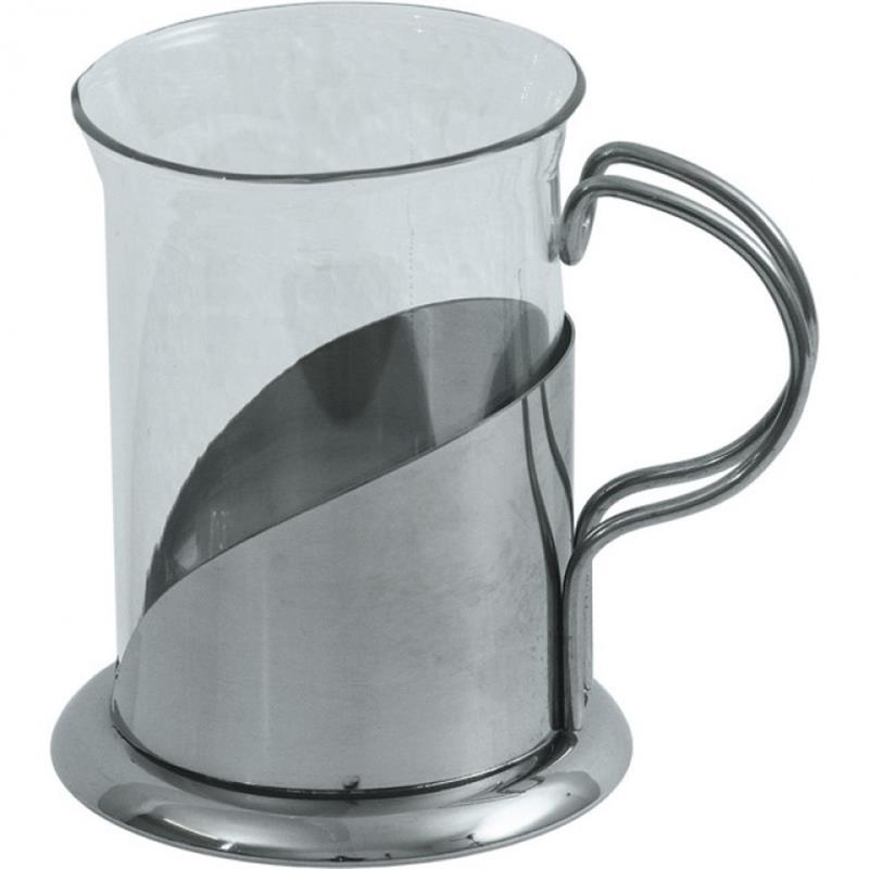 Teeglas mit Halter - neutral - 0,2 ltr.