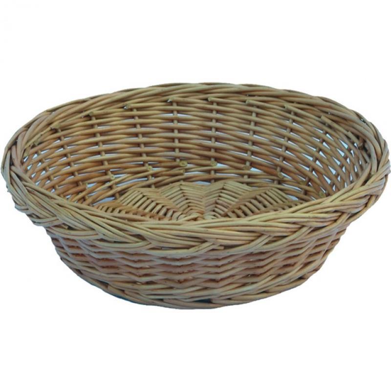 Brotkorb, rund, Vollweide, 22x7 cm