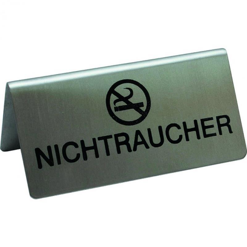 Tischaufsteller, 10x5 cm, NICHTRAUCHER Symbol