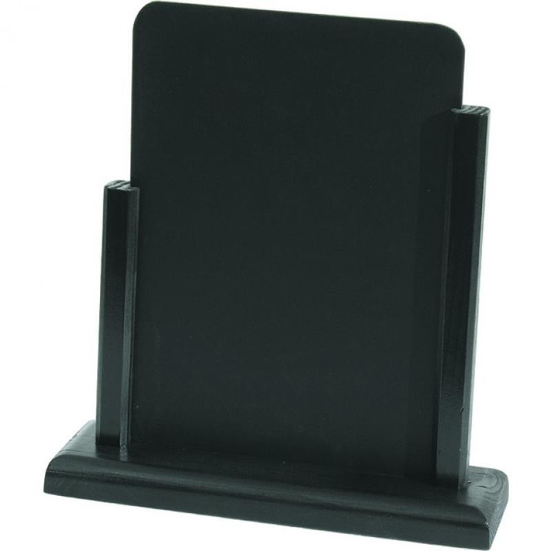 Tischaufsteller, 21x13,5 cm, schwarz