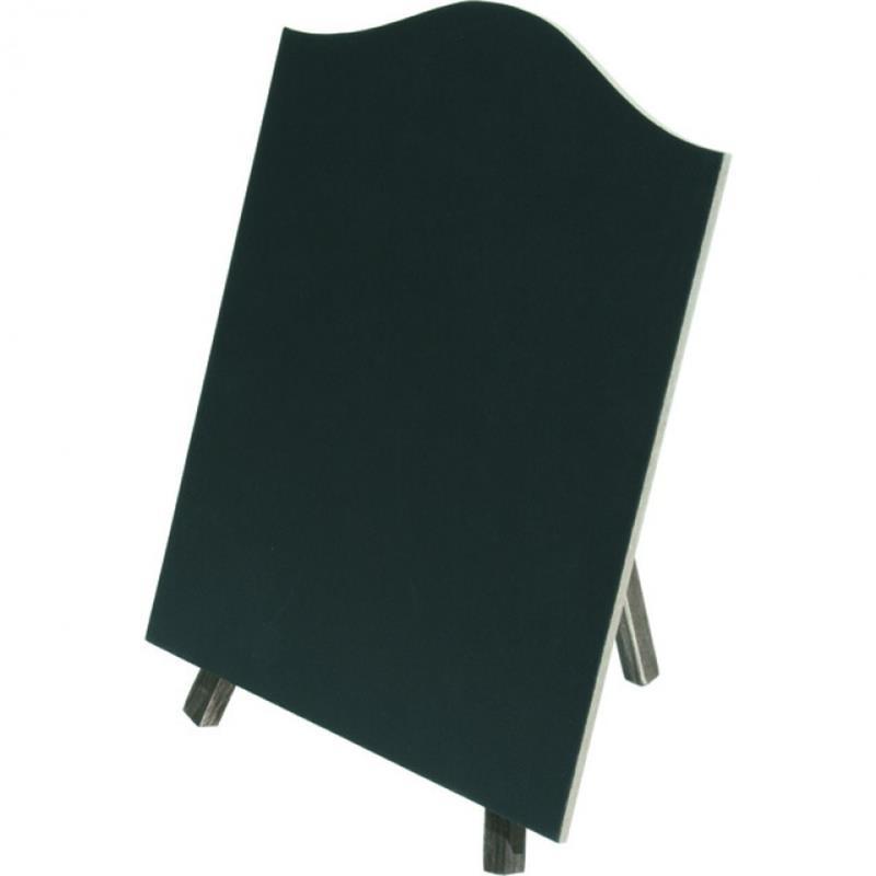 Tischaufsteller, Tafel, 20x17 cm, braun