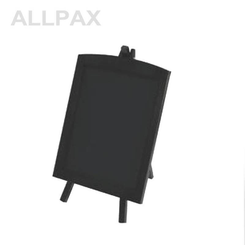 Tischaufsteller, Tafel, 22x27 cm, Holz - dunkel
