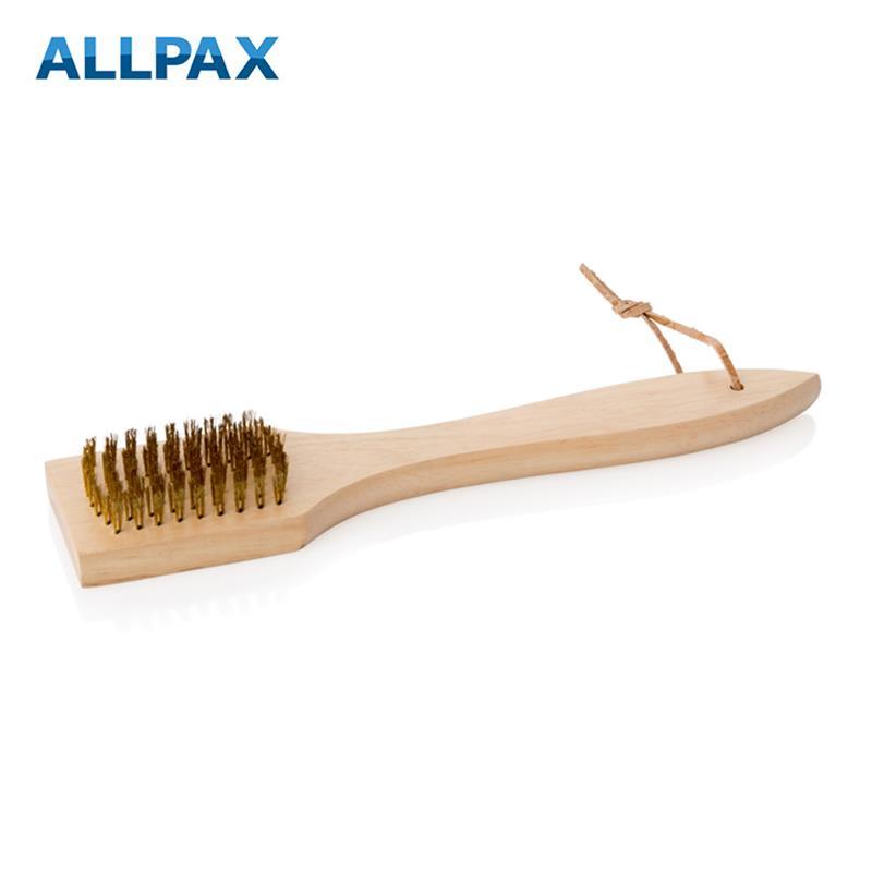 Reinigungsbürste aus Holz mit Messingborsten