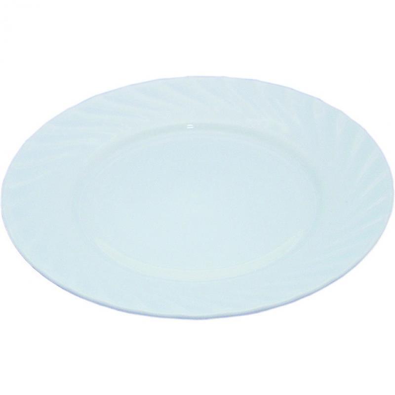 Opalglas - Teller flach, Serie Wave - drei Größen
