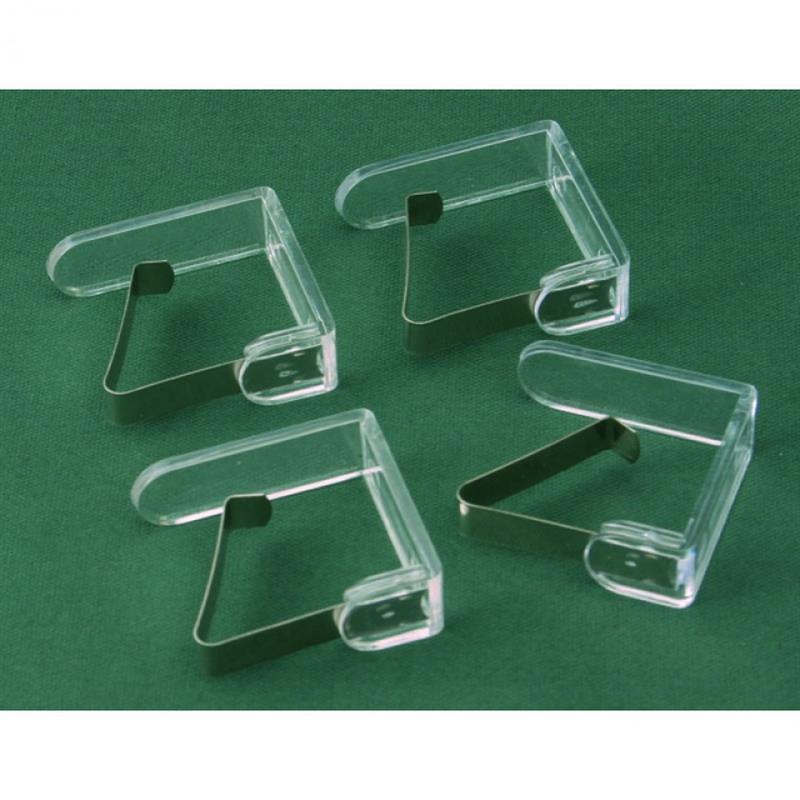 Tischtuchklammer, mit Kunststoffoberteil, 4er Set