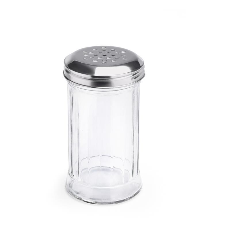 10 cm Salz SUN /Ø 6 cm H/öhe und Pfefferstreuer im 2er Set aus Glas mit Edelstahl-Deckel