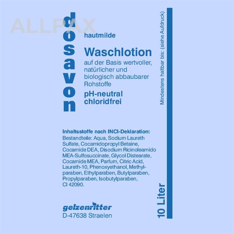 DOSAVON Chlorid-freie Flüssigseife 10 li