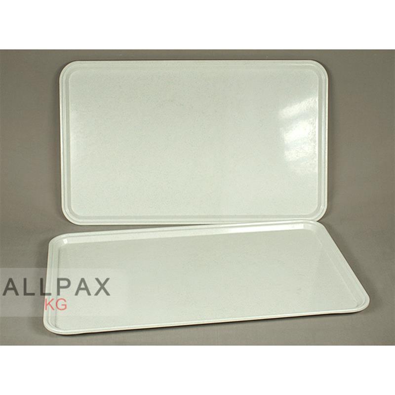 Polyester-Tablett - milchweiss