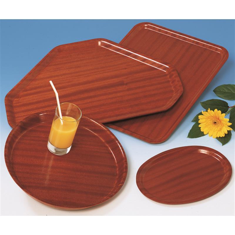 Tablett aus Pressholz, eckig
