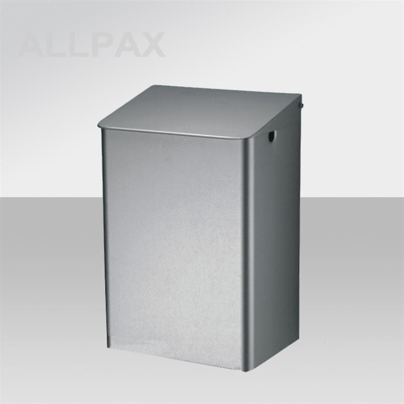 Abfallbehälter mit Klappdeckel, 15 Liter